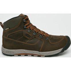 Keen - Buty Wetsward Leather. Brązowe buty trekkingowe męskie marki Keen, z gumy, na sznurówki, outdoorowe. Za 599,90 zł.