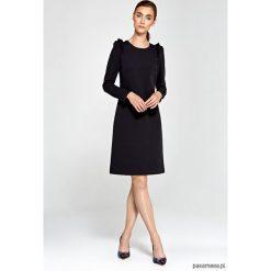 Sukienki hiszpanki: Sukienka z falbankami na ramionach s89 – czarny