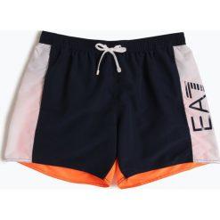 EA7 Emporio Armani - Męskie spodenki kąpielowe, pomarańczowy. Brązowe kąpielówki męskie marki NABAIJI, z elastanu. Za 379,95 zł.