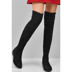 Buty zimowe damskie: Czarne Kozaki Izzy