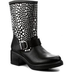 Botki GUESS - Zena FLZEN4 LEA11 BLACK. Czarne botki damskie skórzane marki Guess. W wyprzedaży za 459,00 zł.