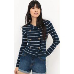 Marynarki i żakiety damskie: Sweter rozpinany typu żakiet w stylu marynarskim