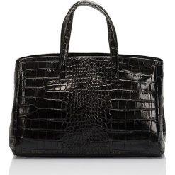 Torebki klasyczne damskie: Skórzana torebka w kolorze czarnym – 40 x 38 x 14 cm
