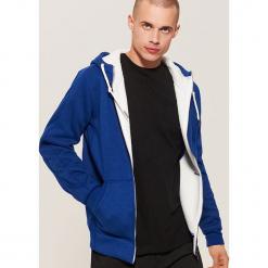 Ocieplana bluza z kapturem - Granatowy. Niebieskie bluzy męskie rozpinane House, l, z kapturem. Za 139,99 zł.