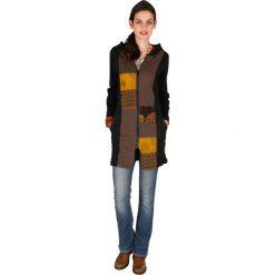 Odzież damska: Bluza w kolorze czarno-jasnobrązowo-żółtym