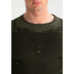 Swetry klasyczne męskie: Key Largo CLUB Sweter oliv