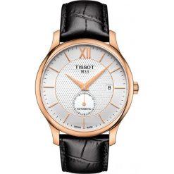 PROMOCJA ZEGAREK TISSOT Tradition Automatic Small Second T063.428.3. Szare zegarki męskie marki TISSOT, ze stali. W wyprzedaży za 2622,40 zł.