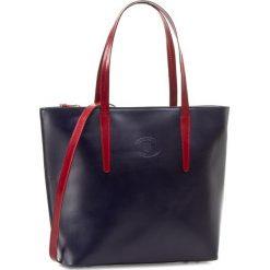 Torebka CREOLE - RBI644 Granat/Czerwony. Niebieskie torebki klasyczne damskie Creole, ze skóry, duże. W wyprzedaży za 299,00 zł.