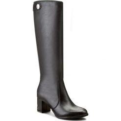 Kozaki KOTYL - 4045 Czarny Lico. Czarne buty zimowe damskie Kotyl, ze skóry, przed kolano, na wysokim obcasie. W wyprzedaży za 379,00 zł.
