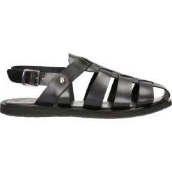 Sandały. Czarne sandały męskie skórzane Gino Rossi. Za 99,90 zł.