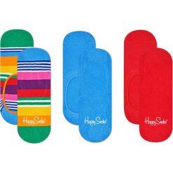 Happy Socks - Stopki Multi Stripe (3-pak). Niebieskie skarpetki damskie Happy Socks, z bawełny. Za 69,90 zł.