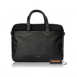 """Head H50143101 15"""" czarna. Czarne torby na laptopa Head, w paski, z materiału. Za 449,00 zł."""