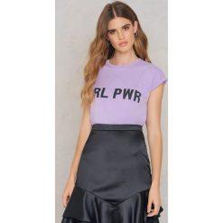 T-shirty damskie: Josefin Ekström for NA-KD T-shirt GRL PWR – Purple