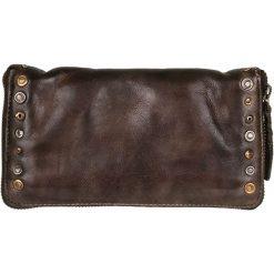 Portfele damskie: Skórzany portfel w kolorze brązowym – 21 x 12 x 2 cm