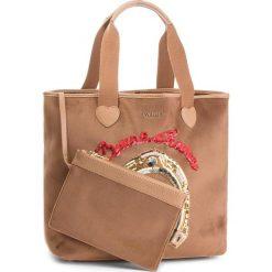 Torebka TWINSET - Shopping AA8PLA Camel 000044. Brązowe torebki klasyczne damskie marki ARTENGO, z materiału. Za 629,00 zł.