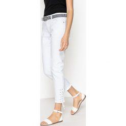 Dżinsy skinny. Szare jeansy damskie marki La Redoute Collections, m, z bawełny, z kapturem. Za 161,66 zł.