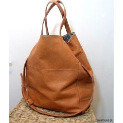 Ciemno Kamelowa skórzana torba 02. Brązowe torebki klasyczne damskie Pakamera, ze skóry, duże. Za 380,00 zł.