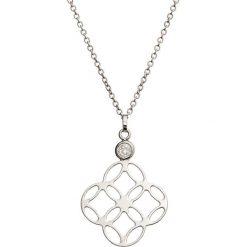 Naszyjniki damskie: Srebrny naszyjnik z cyrkonią – (D)41 cm