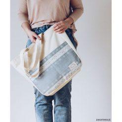 Torba na zakupy z kieszeniami RÓŻYCZKI. Szare torby plażowe marki Pakamera, z bawełny, duże. Za 110,00 zł.