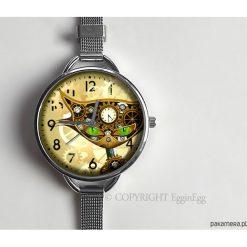 Zegarki damskie: Zegarek z dużą tarczką Steampunkowy kot