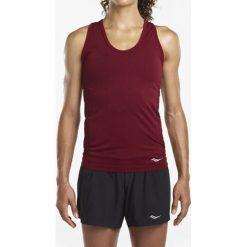 Koszulka do biegania damska SAUCONY BELL LAP SEAMLESS TANK / SAW800099-BT. Brązowe bluzki asymetryczne Saucony, na ramiączkach. Za 95,00 zł.