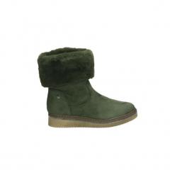 Śniegowce Xti  48445. Zielone buty zimowe damskie marki Xti. Za 307,59 zł.