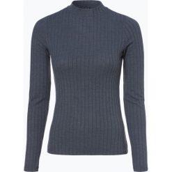 Review - Damska koszulka z długim rękawem, niebieski. Szare t-shirty damskie marki Review, l, z tkaniny, z okrągłym kołnierzem. Za 99,95 zł.