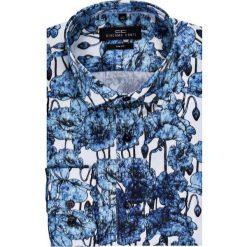 Koszula SIMONE KDWS000146. Szare koszule męskie na spinki marki S.Oliver, l, z bawełny, z włoskim kołnierzykiem, z długim rękawem. Za 199,00 zł.