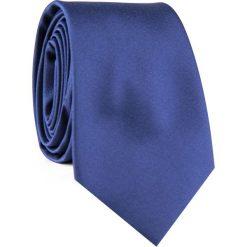 Krawat KWGR001837. Niebieskie krawaty męskie Giacomo Conti, z mikrofibry, eleganckie. Za 69,00 zł.