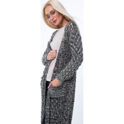 Kardigan ażurowy czarno-khaki MP32205. Białe kardigany damskie marki Fasardi, l. Za 79,20 zł.