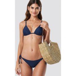 NA-KD Swimwear Dół bikini Triangle - Blue,Navy. Niebieskie bikini NA-KD Swimwear, w paski. Za 32,00 zł.