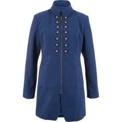 Płaszcz w militarnym stylu z kolekcji Maite Kelly bonprix kobaltowy. Niebieskie płaszcze damskie bonprix, moro, militarne. Za 239,99 zł.