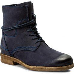 Botki LASOCKI - G322 Granatowy. Niebieskie buty zimowe damskie Lasocki, z materiału. W wyprzedaży za 125,00 zł.