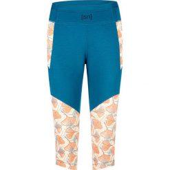 Legginsy sportowe damskie: Sportowe legginsy w kolorze niebiesko-pomarańczowym