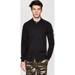 Odzież męska: Gładka koszula – Czarny