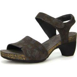"""Sandały damskie: Skórzane sandały """"Traudi"""" w kolorze ciemnobrązowym"""