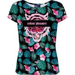 Colour Pleasure Koszulka damska CP-034 259 różowo-zielona r. M/L. Czerwone bluzki damskie marki Colour pleasure, l. Za 70,35 zł.