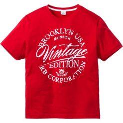 T-shirty męskie z nadrukiem: T-shirt Slim Fit bonprix czerwony