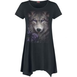 Bluzki asymetryczne: Spiral Wolf Roses Koszulka damska czarny