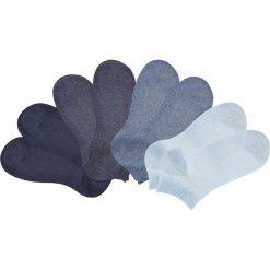 Skarpetki stopki GO IN (8 par) bonprix granatowy + ciemny dżinsowy melanż + dżinsowy melanż + jasnoniebieski. Niebieskie skarpetki męskie bonprix, melanż. Za 31,92 zł.