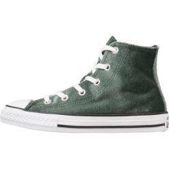 Converse CHUCK TAYLOR ALL STAR HI DEEP EMERALD/WHITE/WHITE YOUTH Tenisówki i Trampki wysokie deep emerald/white. Białe trampki dziewczęce Converse, z materiału, retro. W wyprzedaży za 167,20 zł.