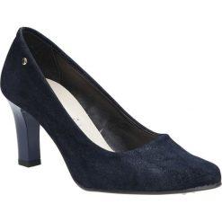 Granatowe czółenka na słupku Casu 3043. Czarne buty ślubne damskie Casu, na słupku. Za 78,99 zł.