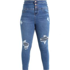 Boyfriendy damskie: New Look Curves CORSET BUTTON Jeans Skinny Fit pottery blue