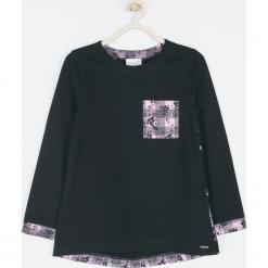 Koszulka. Czarne bluzki dziewczęce bawełniane MAGICAL, z nadrukiem, z długim rękawem. Za 65,90 zł.