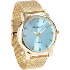 Złoto-Niebieski Zegarek Blank Page. Niebieskie zegarki damskie Born2be, złote. Za 29,99 zł.