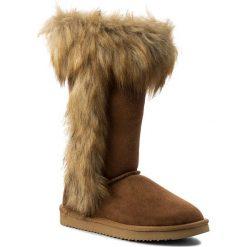 Buty LASOCKI - WS17888-7 Camel. Brązowe buty zimowe damskie Lasocki, z materiału, przed kolano, na wysokim obcasie. Za 229,99 zł.