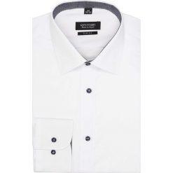 Koszula bexley 2597 długi rękaw slim fit biały. Szare koszule męskie slim marki Recman, na lato, l, w kratkę, button down, z krótkim rękawem. Za 89,99 zł.