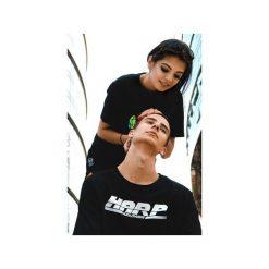 T-shirt Worldwide. Czarne t-shirty męskie z nadrukiem Harp Team, m, z materiału. Za 79,00 zł.