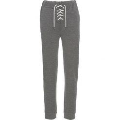 """Spodnie dresowe damskie: Spodnie dresowe bonprix szary melanż """"used"""""""