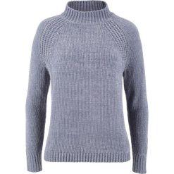 Swetry klasyczne damskie: Sweter z szenili bonprix szary melanż